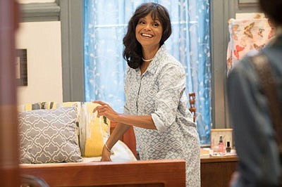 "Emmy-nominated actress Victoria Rowell in a scene from ""Jacqueline and Jilly,"" a new feature series currently airing on the Urban Movie channel. The series, which has already received critical acclaim was written, produced and directed Rowell."
