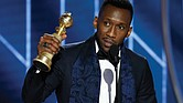 "Mahershala Ali pays homage to the late pianist Don Shirley, the man he portrayed in ""Green Book,"" during his remarks accepting the Golden Globe Award for best supporting actor in the film."