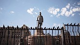 A statue of the late Paul Kruger, president of the South African Republic from 1883 to 1900, remains a flashpoint as a testament to that nation's racist past of apartheid and stirs deep divisions over whether it should remain or be scrapped.