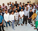 Young Black men at last year's From the Fire Academy with Danny Glove