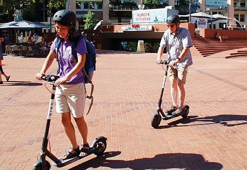 E-scooters are returning to Portland in the spring and this time will be evaluated over a one year period, the ...