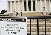 The Lincoln Memorial during the government shutdown