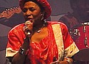 """This season's opening episode puts Africa's first global music icon—Miriam Makeba—back in the spotlight with """"Mama Africa: Miriam Makeba!"""" Director Mika Kaurismaki's film tells the story of Makeba's rise to global stardom as a musical legend and as a powerful voyce of the South Africa anti-aparteid movement. (Above): Miriam Makeba performing at Standard Bank Arena 1991."""