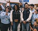 Michael B. Jordan at Barringer High School, Newark, NJ
