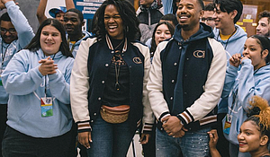 Michael B. Jordan at Barringer High School, Newark, NJ