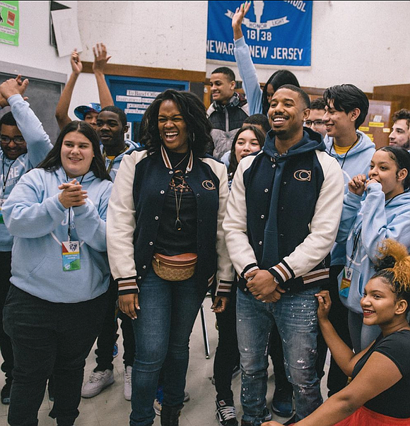 Famed actor and Newark native Michael B. Jordan surprised students at Barringer High School last week in hopes of inspiring ...