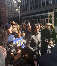National Action Network holds protest against government shutdown