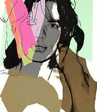 "Andy Warhol, ""Mick Jagger,"" 1975 hand screen print"