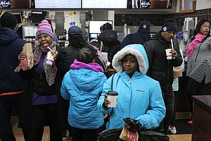 Customers enjoyed a free breakfast at a Chatham McDonald's restaurant on Jan. 18,2019 in honor of the late civil rights leader Dr. Martin L. King Jr.  Photo Credit: Wendell Hutson
