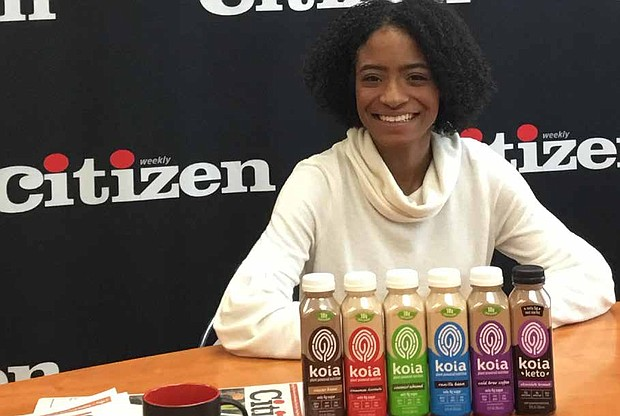 Maya French (pictured) is the co-founder of Koia, a healthy and 100% plant based protein