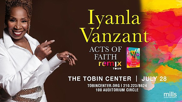 Tobin Entertainment and Mills Entertainment present Iyanla Vanzant Acts of Faith Remix Tour - Friday, July 26th at 8pm at ...