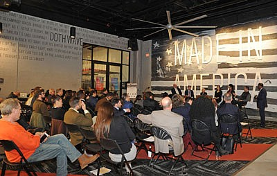The audience listens attentively to the Future of Charm City panel, who discussed the future of technological innovation in Baltimore.