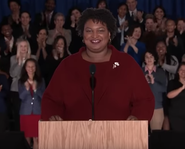 Abrams Blasts Trump, McConnell For 'Power Grab' After