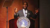 Mayor Levar M. Stoney offers highlights from his term in office and plans for the future during his State of the City address Jan. 31 at the Virginia Museum of History & Culture.