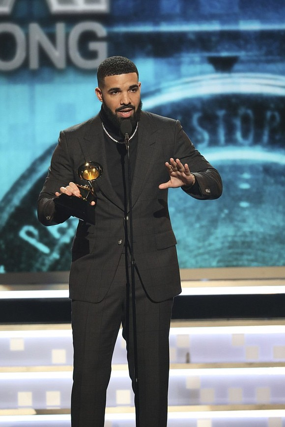 "Drake had a message for musicians and the Grammys on Sunday. His hit ""God's Plan"" won for best rap song ..."