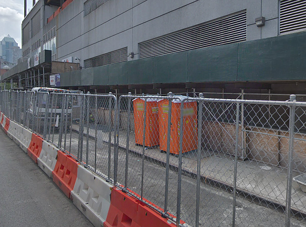 Construction site at 11th Avenue and West 49th Street