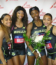 Runners from the Bullis School in Maryland again claimed the Invitational Girls 4x200 relay.