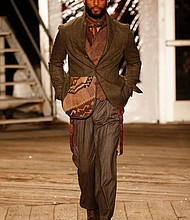 Fall/winter '19 menswear at NYFW designs by Joseph Abboud