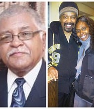 Kermit Eady and Imhotep Gary Byrd and his daughter Zakia Goulbourne-Byrd