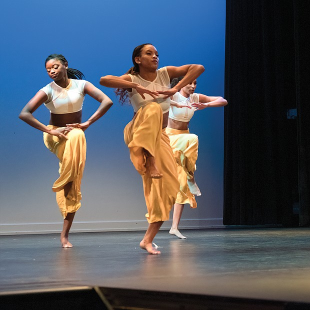 "Expression through dance-Members of the Prestige Dance Studio perform ""Freedom Too,"" one of several pieces performed by talented youths from throughout Central Virginia that were showcased at Sunday's Generation Dream 2019. (Ava Reaves)"
