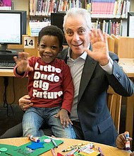 Mayor of Chicago Rahm Emanuel, recently announced that $2.5 million will be invested in renovating the South Shore Branch Library. Photo Credit: Brooke Collins/City of Chicago