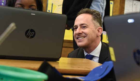 When Jason Kamras placed his hand on his late grandfather's Torah and was sworn in as Richmond's new public schools ...