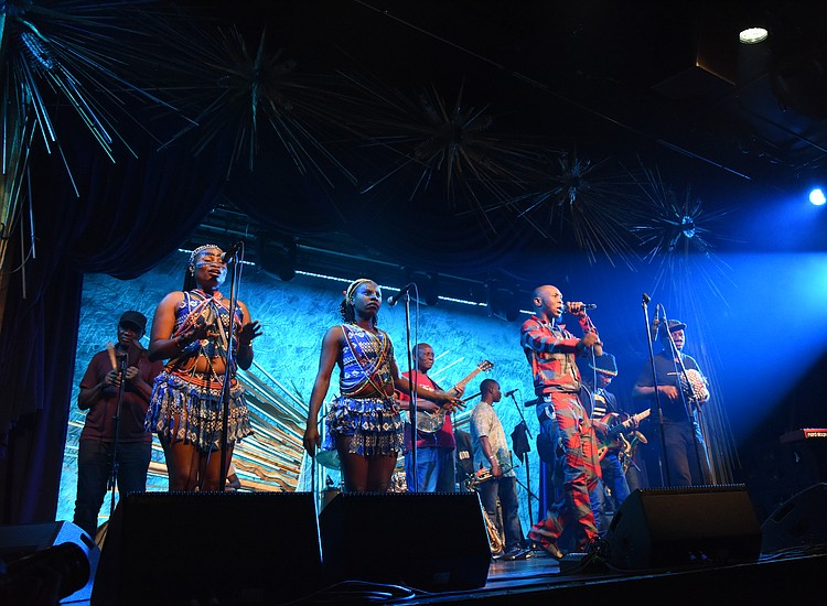 Seun Kuti brings song, dramatics and politics to Sony Hall