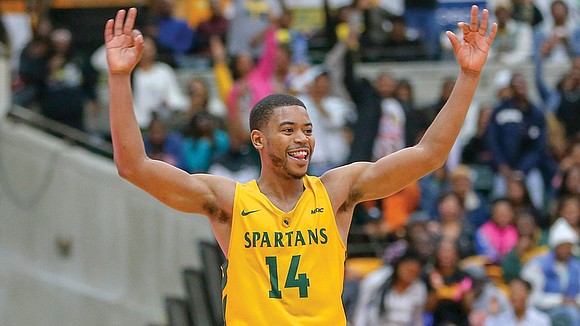 separation shoes 35f61 ca254 Nic Thomas is on fire for NSU | Richmond Free Press ...