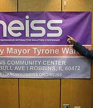 Robbins Mayor Tyrone Ward will host the first-ever Minority Entrepreneur Interactive Solution Symposium on March 1, 2019, which aims to connect entrepreneurs with other business owners. Photo by Wendell Hutson