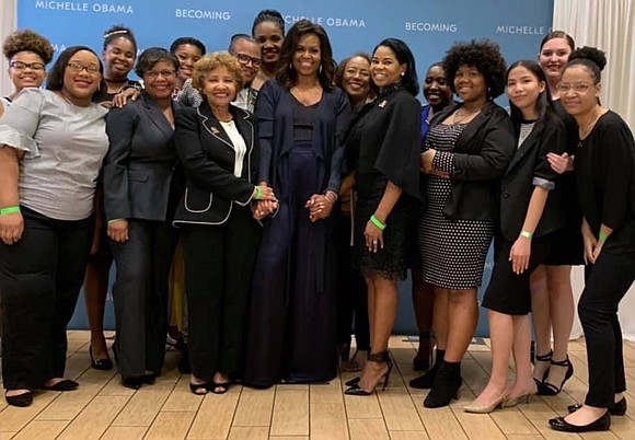 Students at Worthing High School had a surprise meeting with Michelle Obama. The former first lady was in Houston Saturday ...