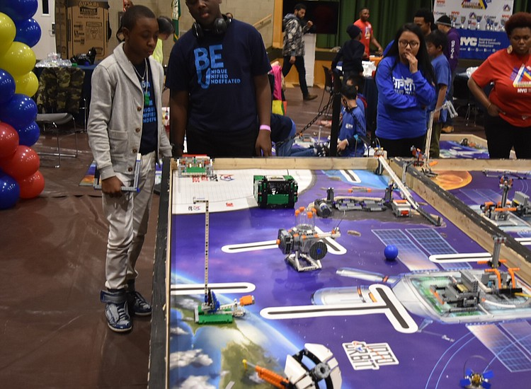 Students compete in 'Leggo My Lego' robotics contest vying for a