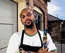 Richmond artist S. Ross Browne is frustrated with the city's failure to pay for the damage caused to his South Side art studio by a busted fire hydrant. He poses in this 2013 photo after the Virginia Museum of Fine Arts purchased one of his works for its collection.