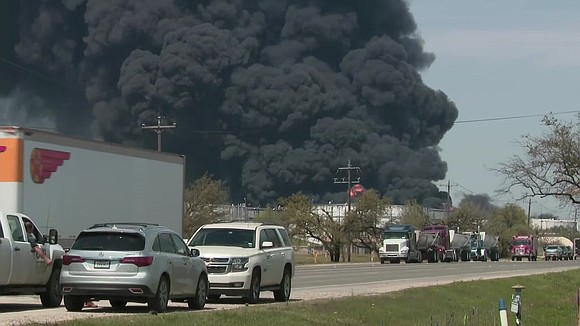 "A fire that burned over four days at a petrochemical plant in suburban Houston was finally extinguished Wednesday. ""As of ..."