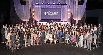 Disney Dreamers join Mickey Mouse, entertainer Steve Harvey, Vice President at Walt Disney World Resort Tracey Powell, Editor-at-Large at Essence Magazine Mikki Taylor and CEO of Essence Communications Michelle Ebanks on Sunday, March 24, 2019 to celebrate the commencement of the 12th Disney Dreamers Academy at Walt Disney World Resort in Lake Buena Vista, Fla. The annual event is a career-inspiration program for distinguished high school students from across the U.S.