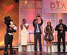 Students Anthony Juba-Richardson from Winter Garden, Fla., Jasmine Bell from Charlotte, N.C. and Devan Smith from Marietta, Ga. recieve awards during Disney Dreamers Academy commencement on. Sunday, March 24, 2019.The 12th annual Disney Dreamers Academy, taking place March 21-24, 2019 at Walt Disney World Resort is a career-inspiration program for distinguished high school students from across the U.S.