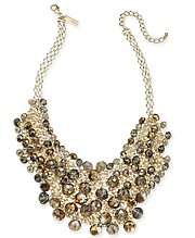 INC International Concepts, I.N.C. Gold-Tone Shaky Bead 16'' Statement Necklace, Created For Macy's