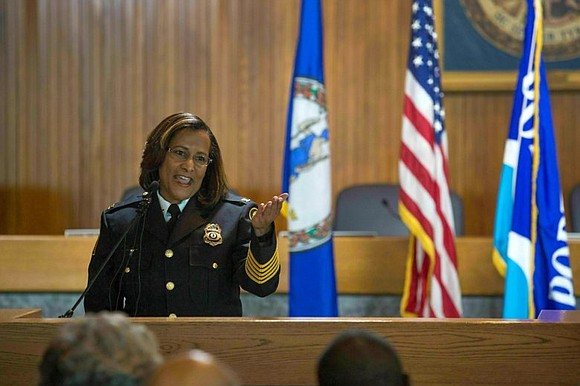 he first Black woman to lead a city police department...