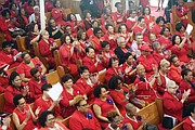 Hundreds of members of Delta Sigma Theta Sorority filled First Baptist Church of South Richmond for Sunday's dedication ceremony for the historical markers honoring Richmond native Dorothy I. Height, 10th national president of the sorority.