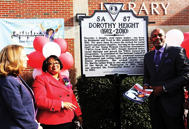 Jeffrey Randolph of Chesterfield, the great-nephew of the late civil rights icon, helped to unveil one marker, along with Connie Cuffee, president of the sorority's Richmond Alumnae Chapter, and Virginia First Lady Pam Northam.