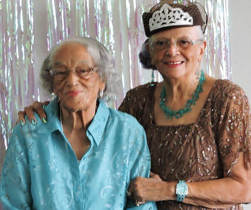 Family and friends celebrated the 90th birthday of Portland resident Lois Graze Jackson (right) with an elegant birthday party on ...