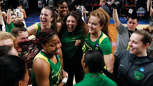 """All I gotta say is we're not done yet,"" Ionescu said. The Ducks are set to face No. 1 seed ..."
