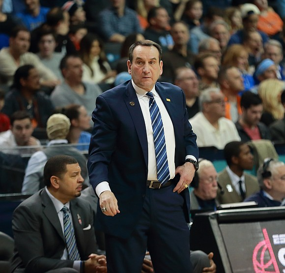 Last Saturday, one day before Mike Krzyzewski and his Duke University men's basketball team were eliminated from the NCAA tournament ...