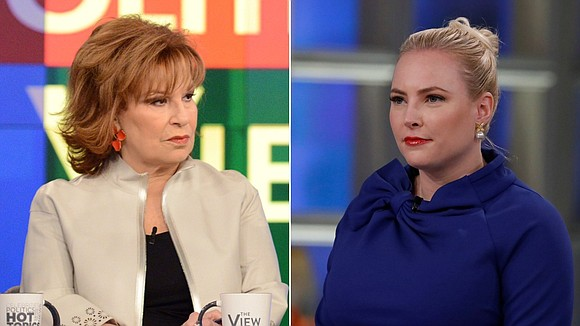 "Things got so heated between Meghan McCain and Joy Behar on ""The View"" on Monday that their fellow co-host Whoopi ..."