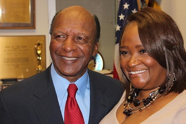 Secretary of State Jesse White (left) and Rhonda McCullogh-Gilmore will both honor the late comedian Bernie Mac at an April 12, 2019 fundraising event. Photo credit by Wendell Hutson