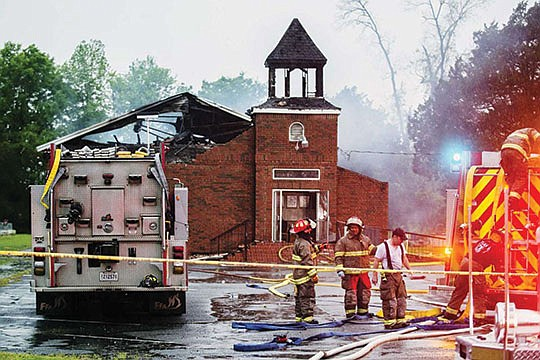 A man arrested in connection with fires at three historically Black Louisiana churches was identified as..