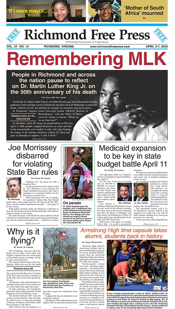The Richmond Free Press was recognized with 13 awards, including six first-place awards, at the annual Virginia Press Association competition ...