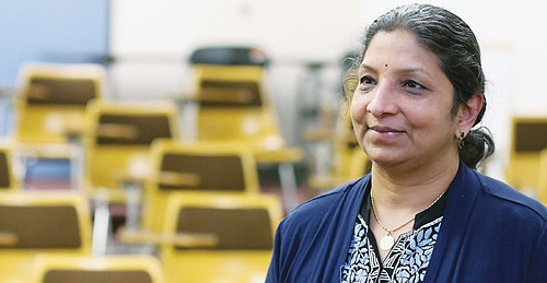 Usha Ramanujam gets inspired when she talks about her perspective students.