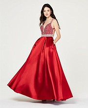 Say Yes to the Prom Juniors' Jewel-Top Ballgown, Created for Macy's, $169.00