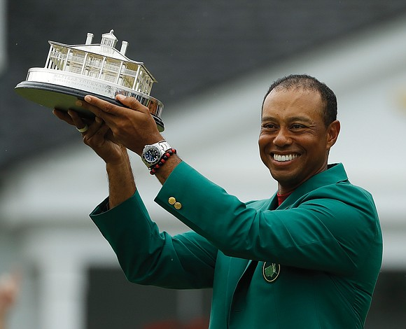 Tiger's back! The fallen hero and crippled star is now a Masters champion again. The 43-year-old Tiger Woods thrilled viewers ...
