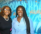 Keia Clarke (l) of the New York Liberty and Kelle Coleman, head of industry partnerships and global events at Nielsen, both spoke about the continuing growth of women's sports